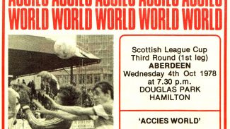 Dons v Accies in the League Cup