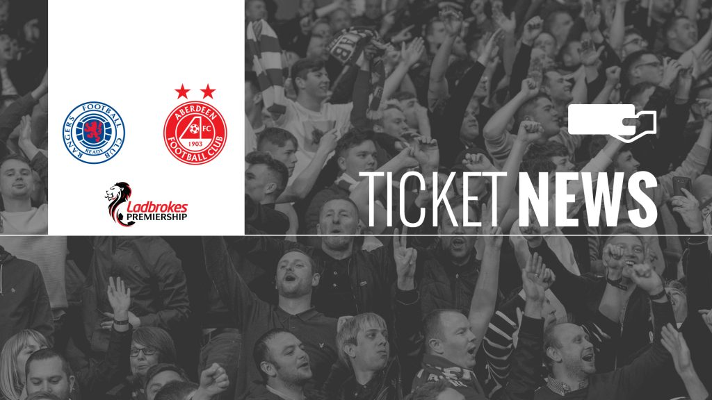 Ticket Details | Rangers v Aberdeen, Sunday 28th April
