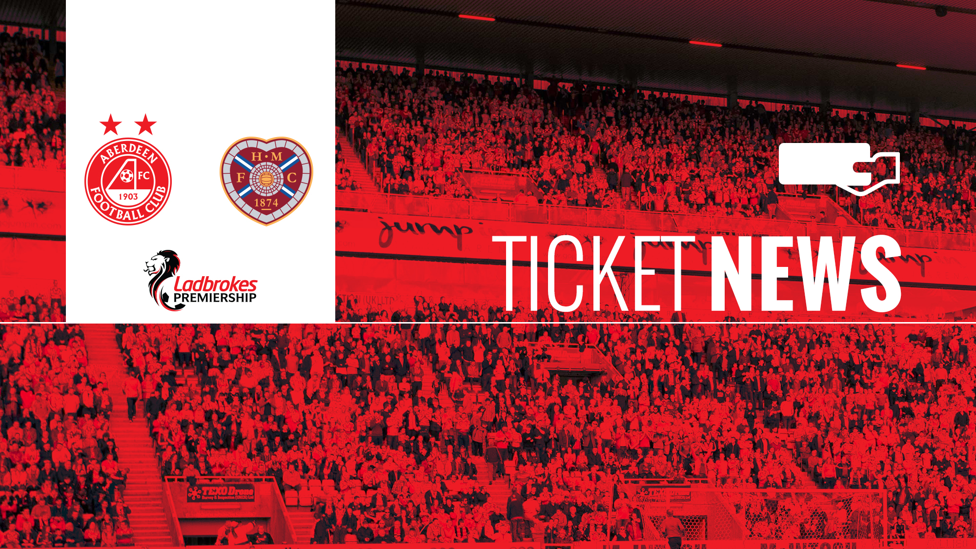 Aberdeen FC   Ticket Details   Aberdeen v Hearts, Friday