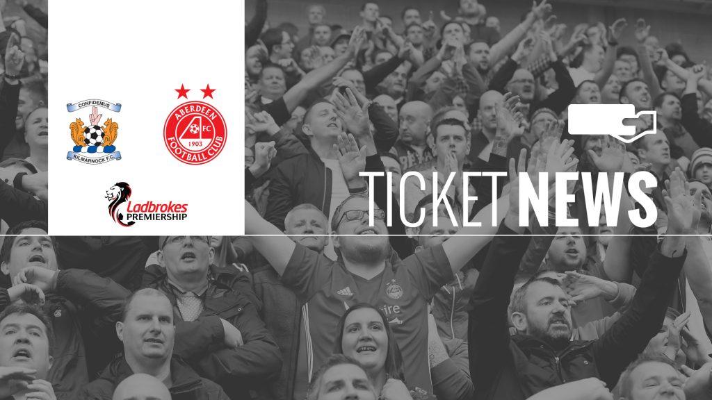 Ticket Details   Kilmarnock v Aberdeen, Saturday 21st April