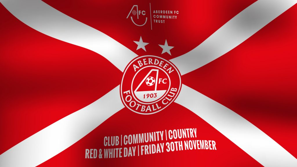 aberdeen fc red and white day friday 30th november
