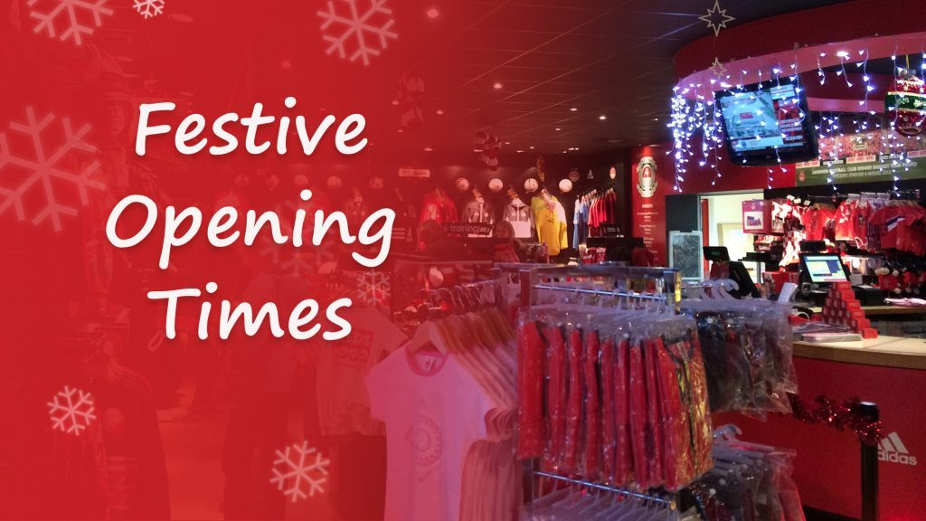Festive Opening Times | Club Shop & Ticket Office