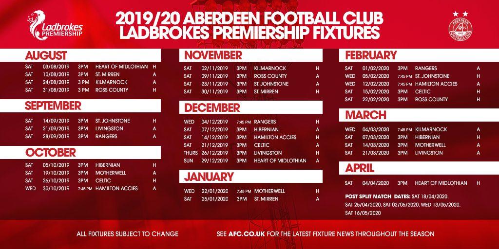 2019/20 SPFL Fixtures Released