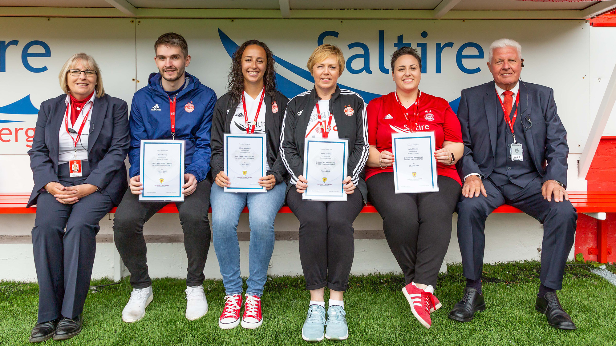 Matchday Safeguarding Team make Pittodrie debut