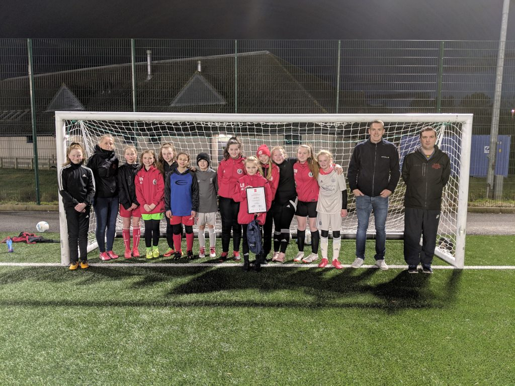Vattenfall Award of the Month – AFCCT North Region Girls Football League