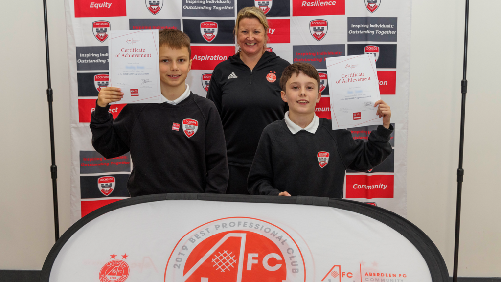 Lochside Academy pupils graduate from AFCCT Mindset programme