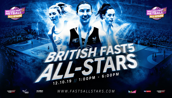 British Fast5 Netball All-stars Championship Returns