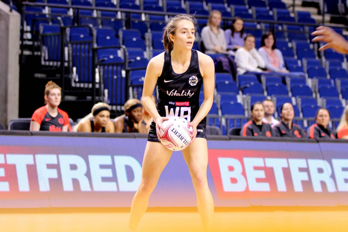 Iona Christan of the Roses Futures and Wasps Netball.. Credit | Charlie Crowhurst.
