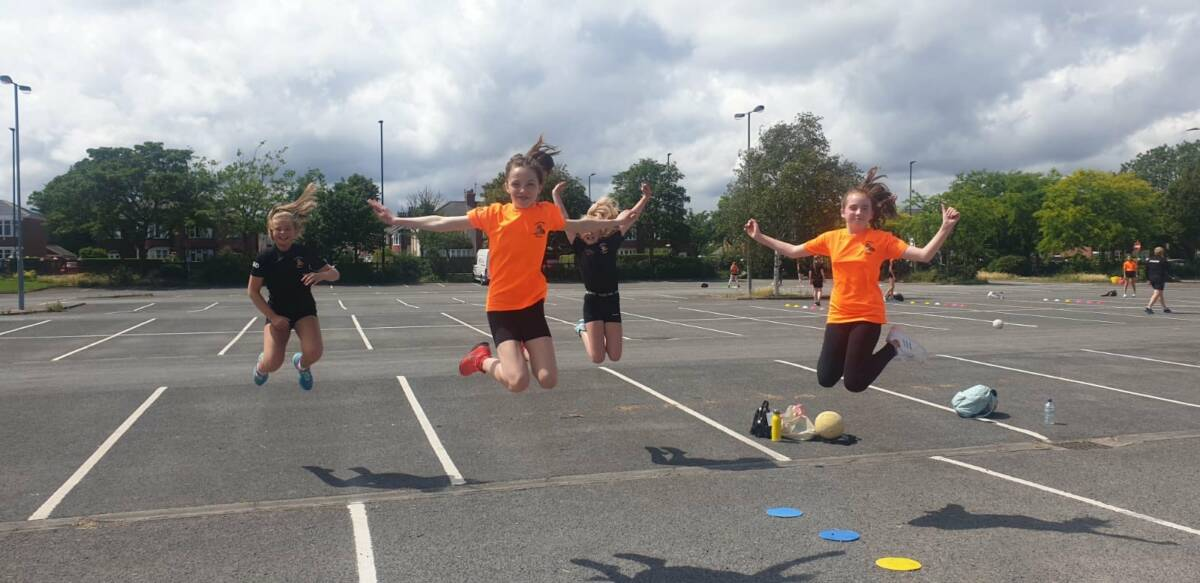 Grangetown socially-distanced training.