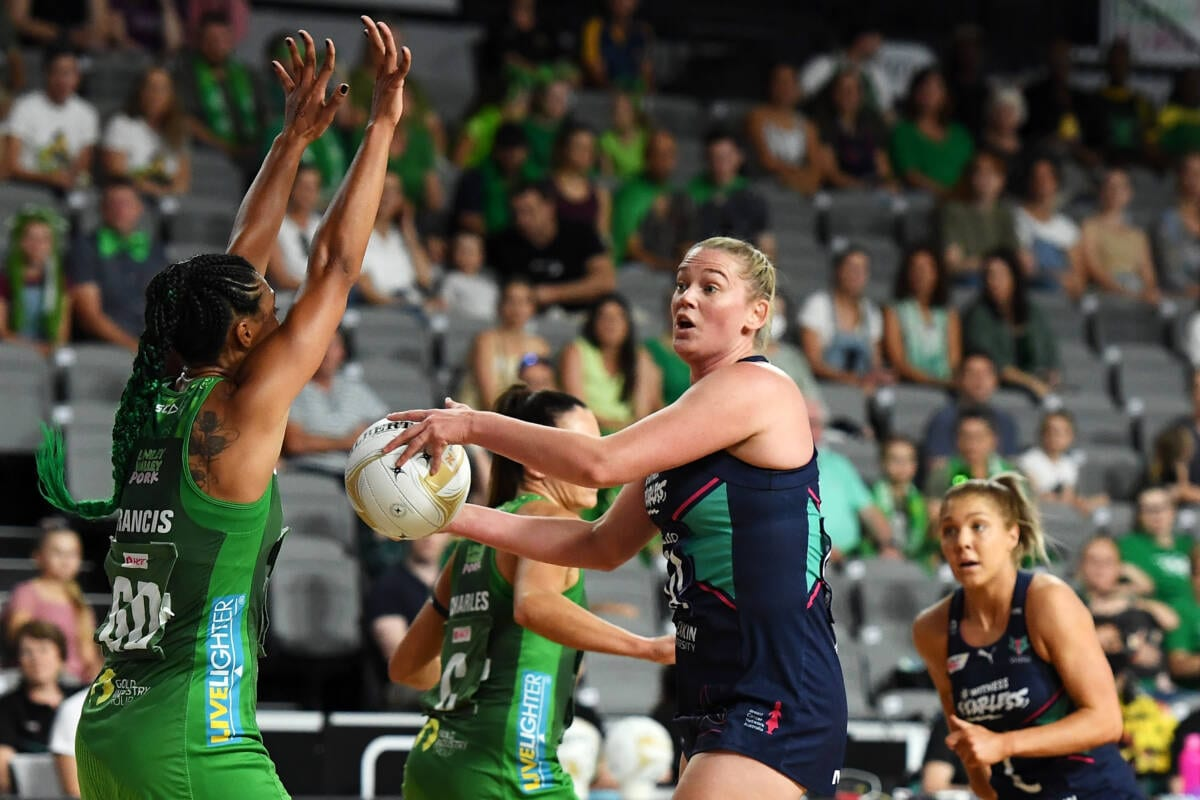 2020 Super Netball Grand Final match between the Melbourne Vixens and the West Coast Fever