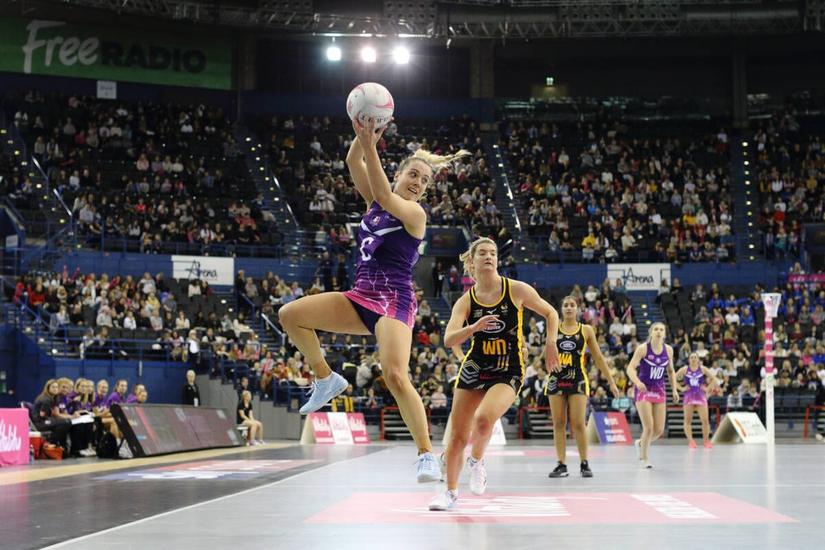 Nat Panagarry of Vitality Roses and Loughborough Lightning.