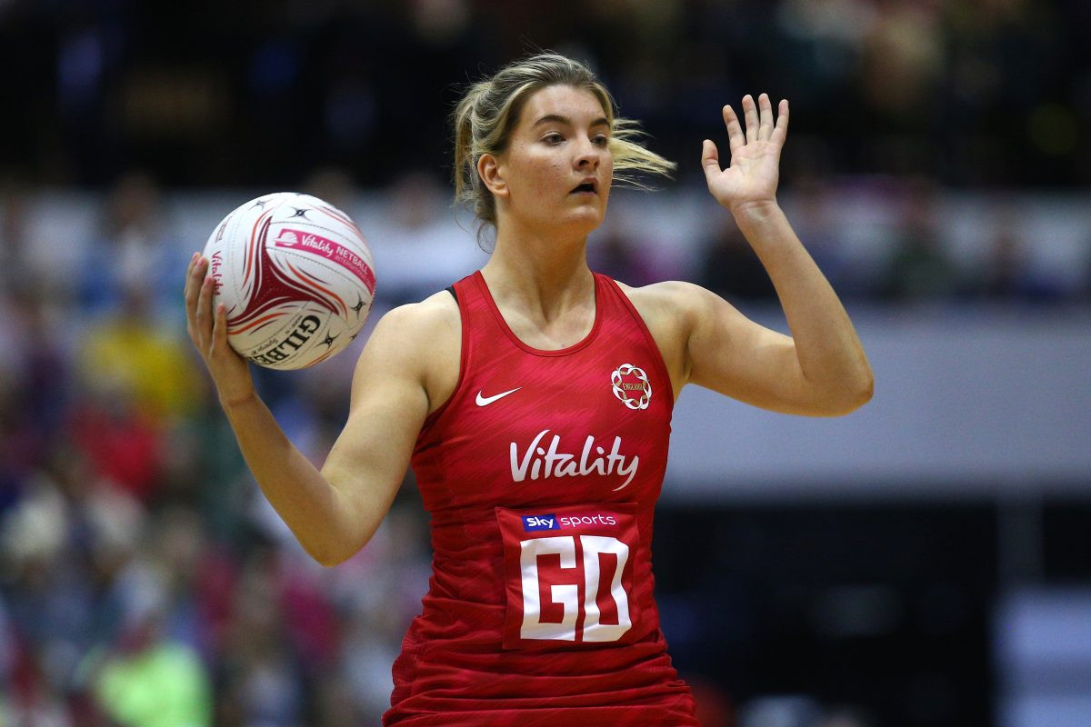 Fran Williams of the Vitality Roses and Wasps Netball.