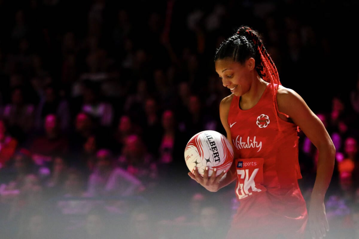 Stacey Francis of the Vitality Roses and West Coast Fever.