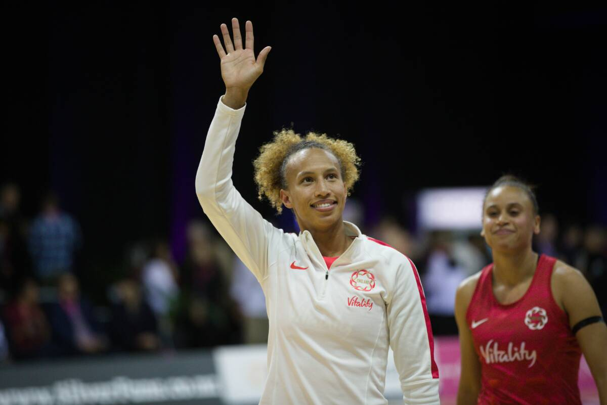 Serena Guthrie of the Vitality Roses and Team Bath Netball.
