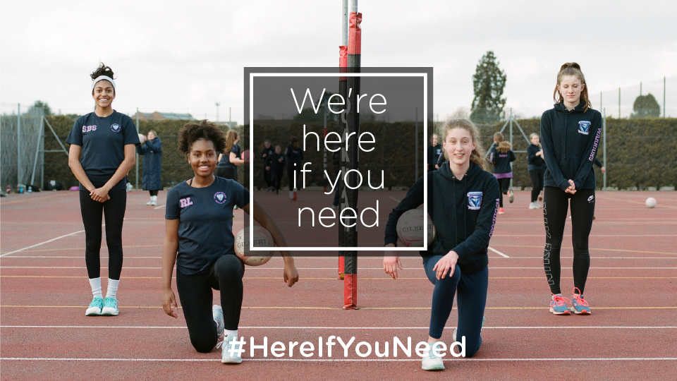 #HereIfYouNeed: Pledge to support women and girls to get activeas thegrassrootsgamereturns