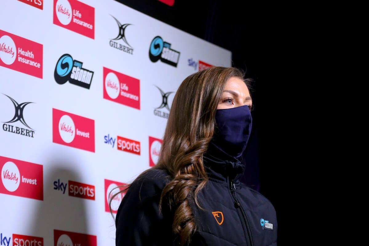 Mikki Austin at the Vitality Netball Superleague (Ben Lumley)