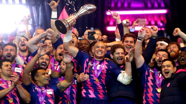 Stade Francais claimed European Rugby Challenge Cup glory with a 25-17 victory over Gloucester Rugby at BT Murrayfield. - 12/05/2017 22:05