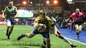 Cardiff Blues outside-half Gareth Anscombe is hoping Saturday's European Rugby Challenge Cup quarter-final against Edinburgh Rugby at BT Murrayfield will prove third time lucky for the Welsh region. - 27/03/2018 08:26
