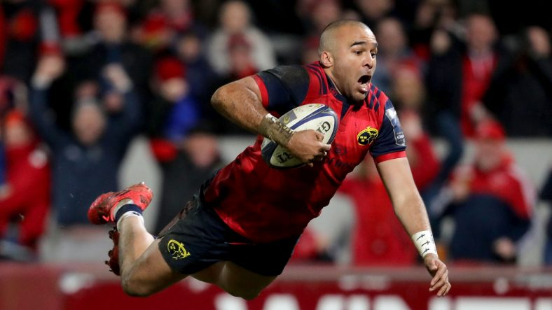 Munster Rugby backs Simon Zebo and Andrew Conway both return from injury to line-up against RC Toulon in their European Rugby Champions Cup quarter-final at Thomond Park