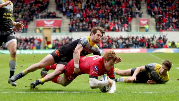 Scarlets reached the European Rugby Champions Cup semi-finals for the first time since 2007 with a fiercely-contested 29-17 triumph over La Rochelle in front of a capacity crowd at the Parc y Scarlets on Good Friday. - 30/03/2018 19:40