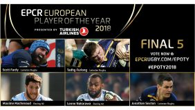 Leinster Rugby and Racing 92 have been rewarded for the performances that have seen them book their places in next month's Champions Cup final in Bilbao with the two clubs dominating the shortlist for the prestigious EPCR European Player of the Year 2018 award - presented by Turkish Airlines. - 24/04/2018 09:59