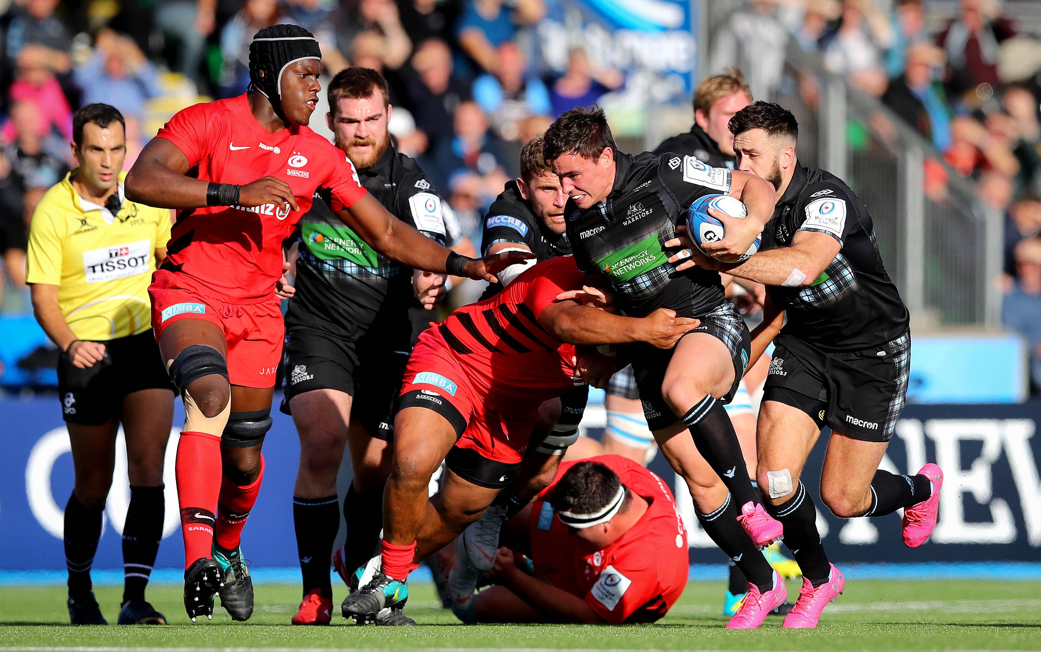 55807ce0843 European Professional Club Rugby | Highlights: Glasgow Warriors v Saracens