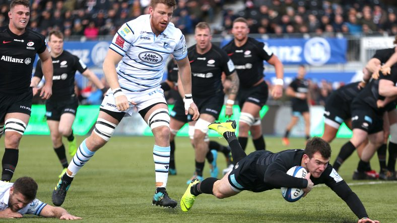 Seven-try Saracens fight back to thrash Cardiff