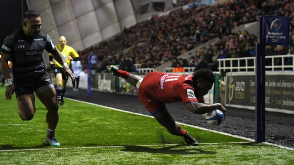 Late Soury try gives Toulon away success in Newcastle