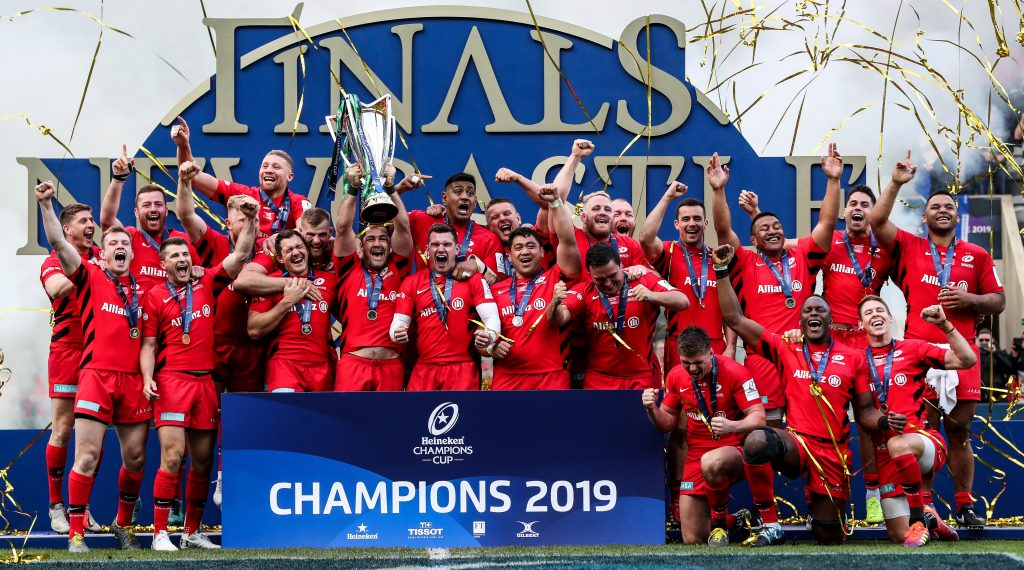 Saracens lift third Heineken Champions Cup after victory over Leinster