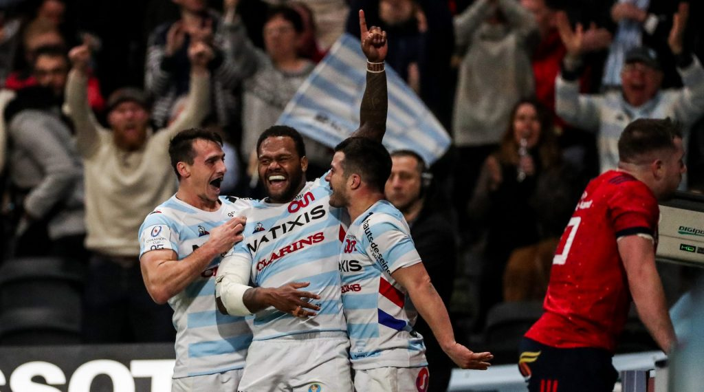 Three late tries send Racing 92 into quarter-finals
