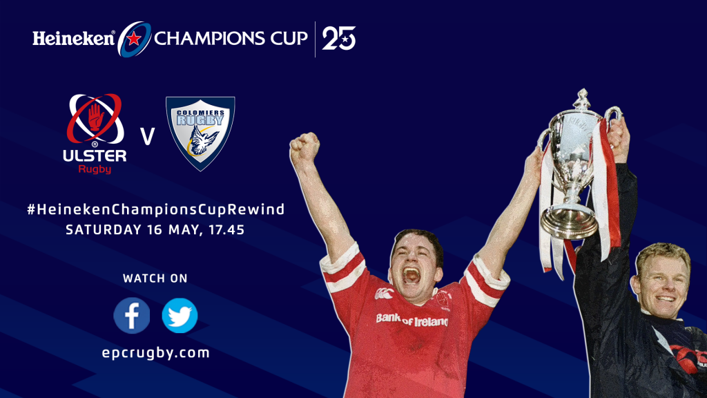 Watch Ulster v Colomiers this weekend on the Heineken Champions Cup Rewind!