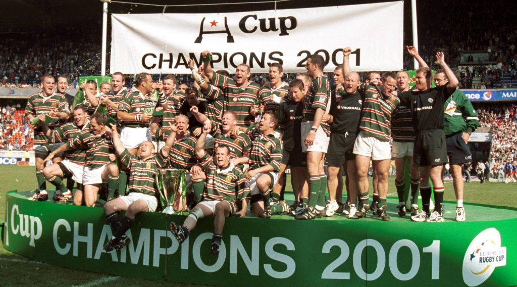 Can you name the Leicester Tigers' starting XV from the 2001 Heineken Cup final?