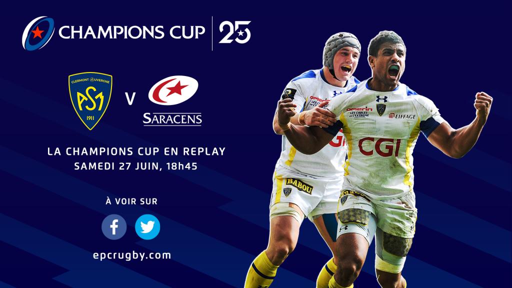 Revivez samedi la demi-finale 2014/2015 Clermont – Saracens !