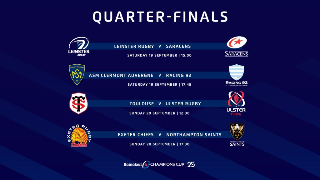 Quarter-final kick-off times altered