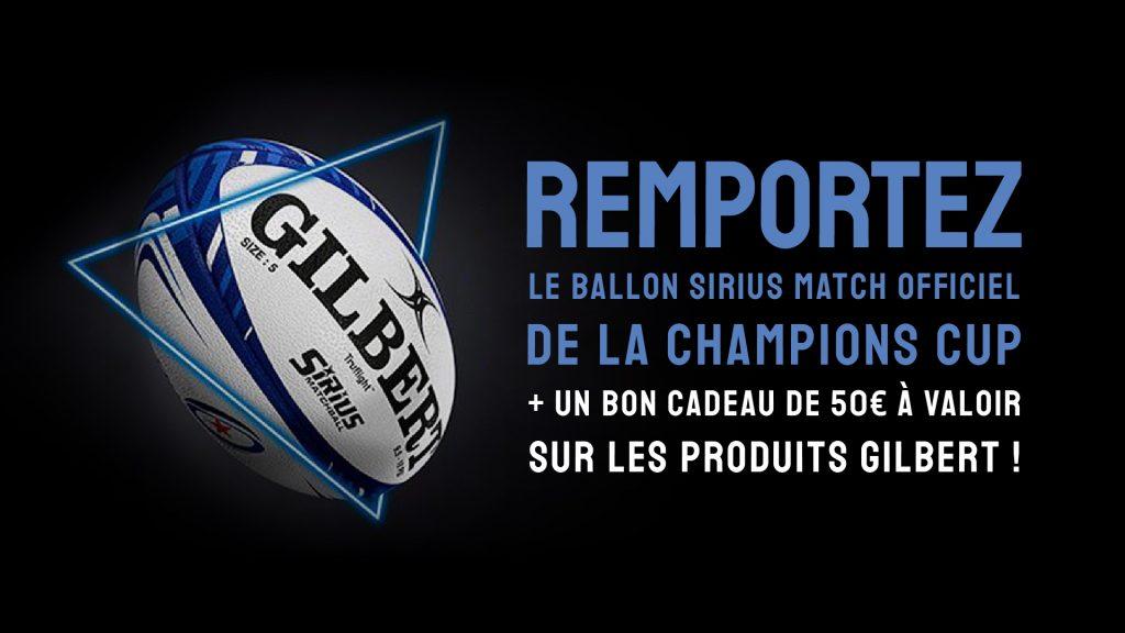 Gagnez le ballon officiel de la Champions Cup Gilbert Rugby !