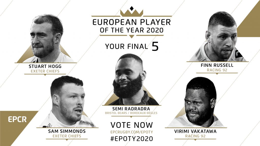 Four clubs represented on EPCR European Player of the Year shortlist
