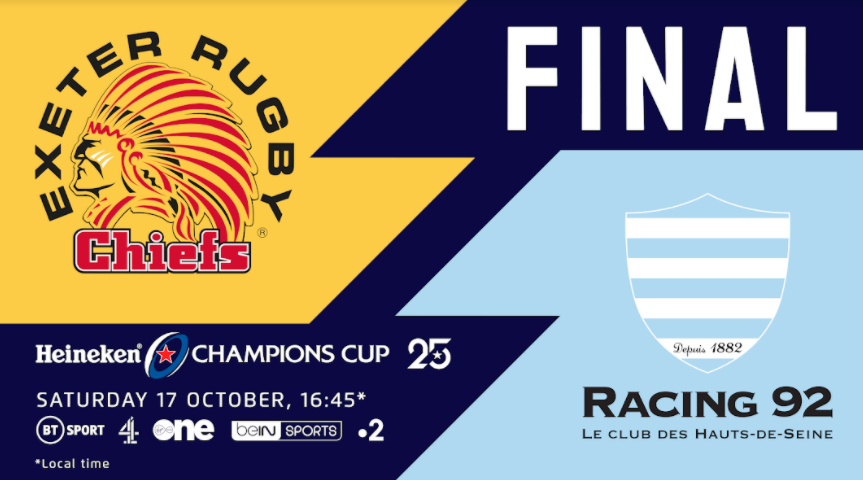 Exeter Chiefs and Racing 92 go in search of first Heineken Champions Cup crown