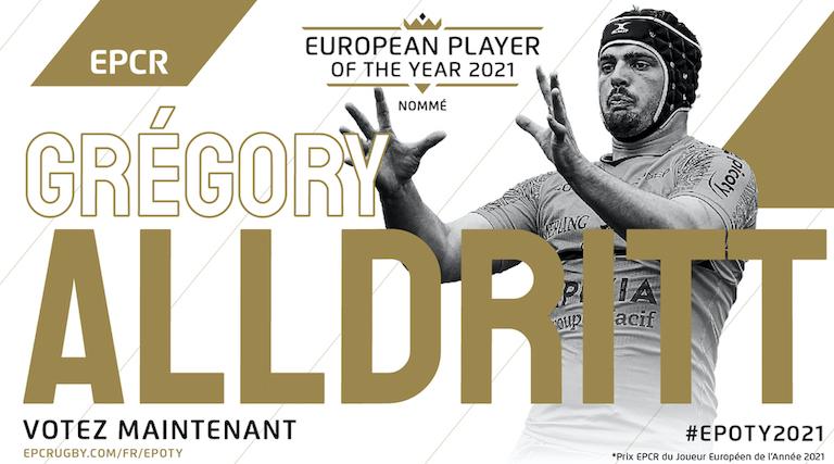 Alldritt (La Rochelle) en course pour le Prix EPCR du Joueur Européen de l'Année