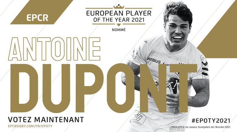 Dupont (Toulouse) toujours en lice pour le Prix EPCR du Joueur Européen de l'Année