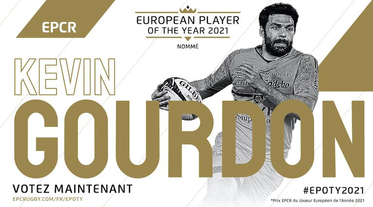 Gourdon (La Rochelle) nommé pour le Prix EPCR du Joueur Européen de l'Année 2021