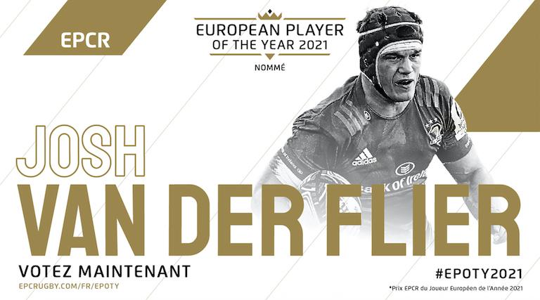 Van der Flier (Leinster) nommé pour le Prix EPCR du Joueur Européen de l'Année 2021