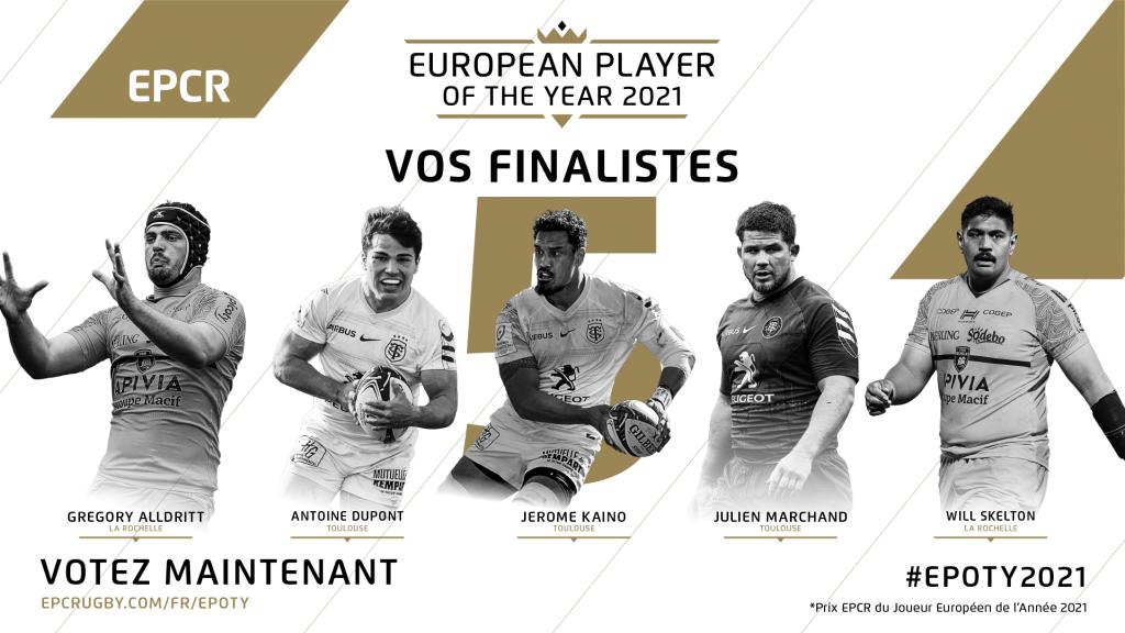 Cinq finalistes de Champions Cup dans la sélection pour le Joueur Européen de l'Année