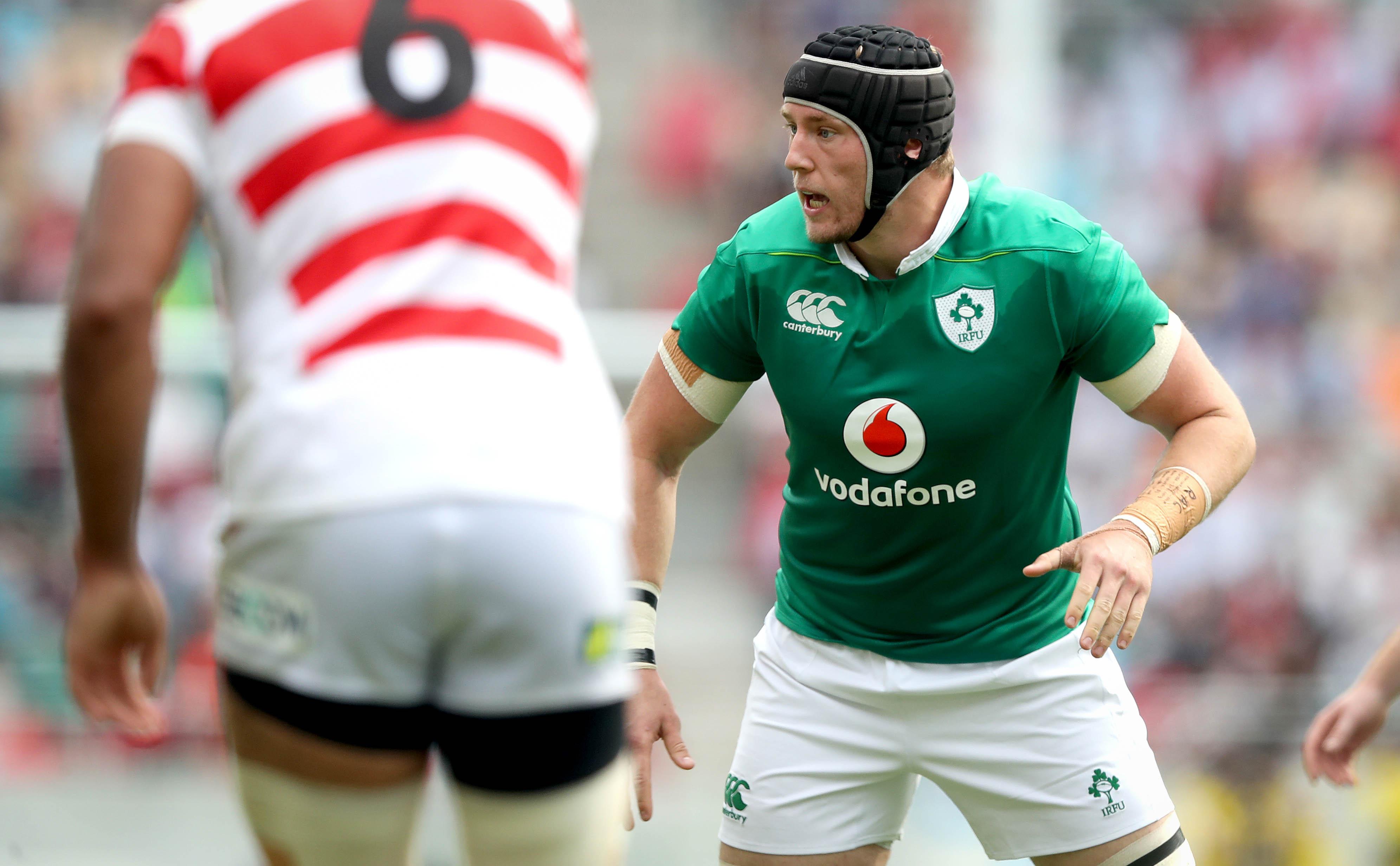Kieran Treadwell playing for Ireland