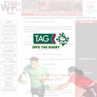 IRFU Tag Open Night at Waterpark