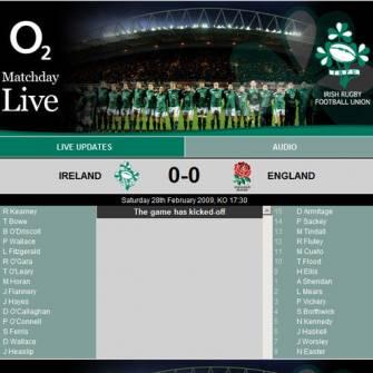 O2 MatchDay Live: Ireland v England