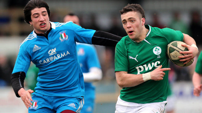 Ireland U-18 Clubs Team Named For Italy Game