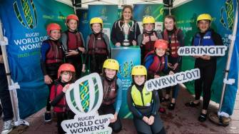In Pics: Fiona Coghlan Hosts #WRWC2017 Trophy Tour At Grand Canal Dock