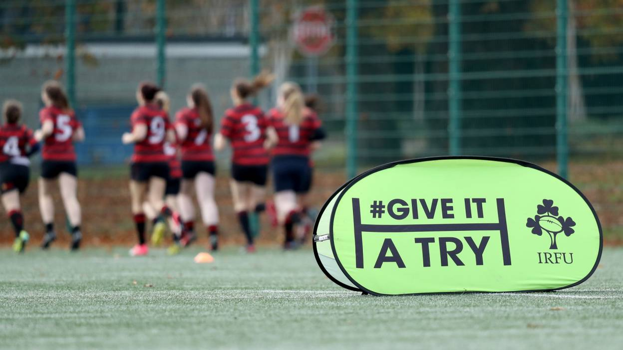 Give It A Try branding at a training session