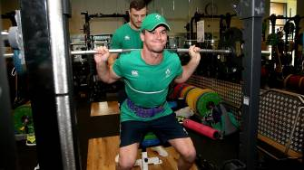 Ireland Squad Gym Session At Surrey Sports Park, Guildford, Tuesday, September 29, 2015
