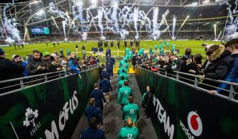 Irish Rugby TV: Ireland v USA Tunnel Cam At Aviva Stadium